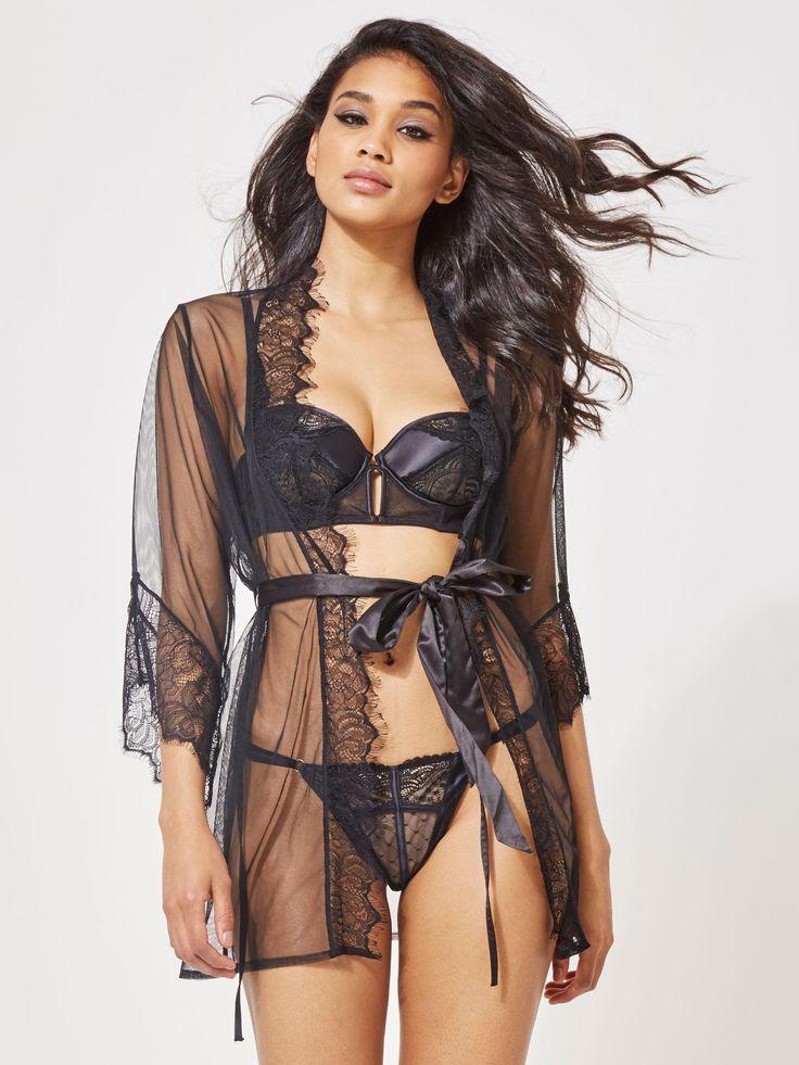 Serena Robe - Ann Summers | Black | Lingerie robe ...