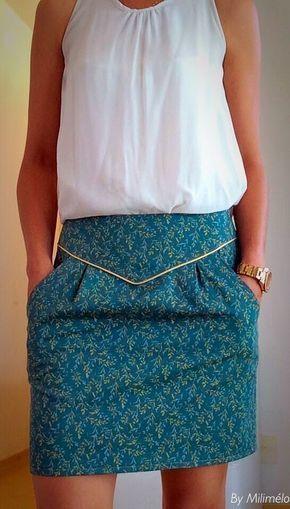 Weblog sur la couture – weblog sobre a costura Pour modifier ma jupe poulette