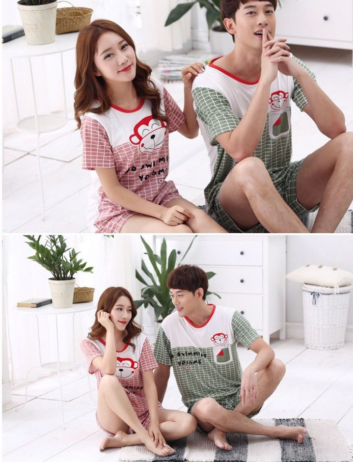 CC01036 Homewear summer couple clothes cheap pajamas