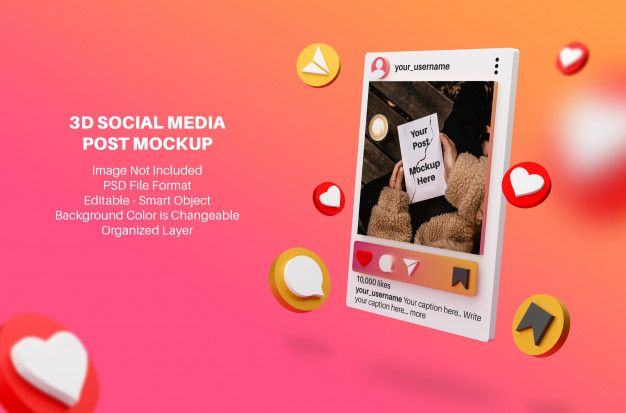 3d Mockup For Instagram Social Media Post Social Media Post Social Media Mockup Social Media Instagram