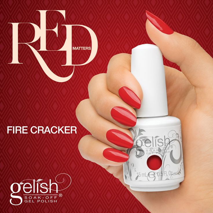 Gelish Fire Cracker from the Red Matters Collection. Available now on auswax.com.au