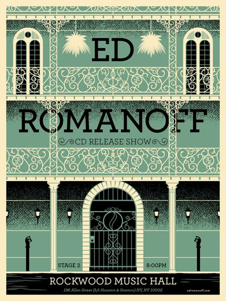 Ed RomanoffRomanoff Posters, Typography Graphics, Creative Design Art Typography, Matthew Fleming, Romanoff Typography, Typography Design, Gigposters Com, Graphics Design, Design Awesome