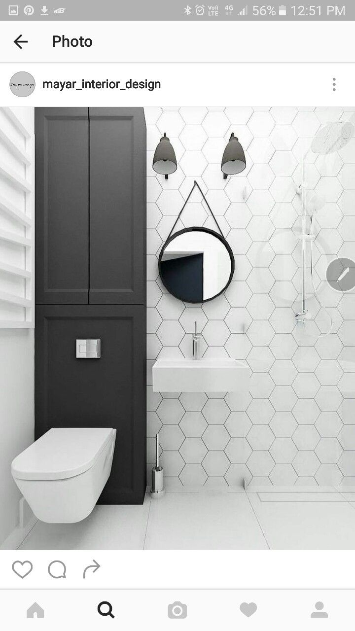 White hex tiles