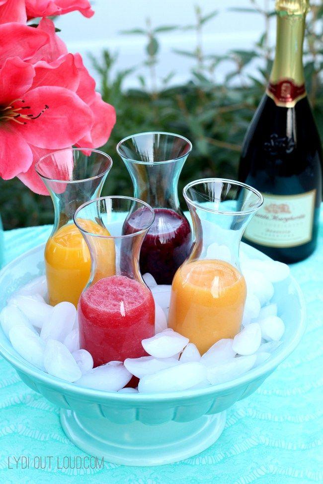 An assorted fruit Brunch Bellini Bar - love this! SantaMargherita ad