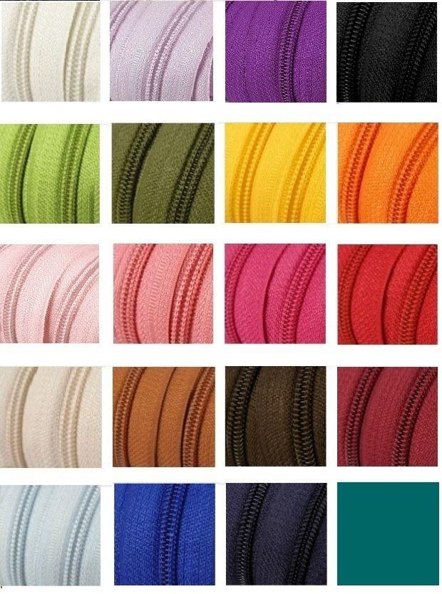 *fermeture éclair au mètre* 20 couleurs au choix : Fermetures à glissières, Eclair par mon-petit-coffre-aux-tresors