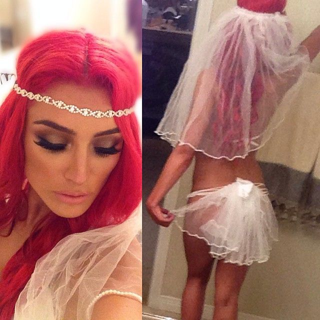 Eva marie wedding dress white short