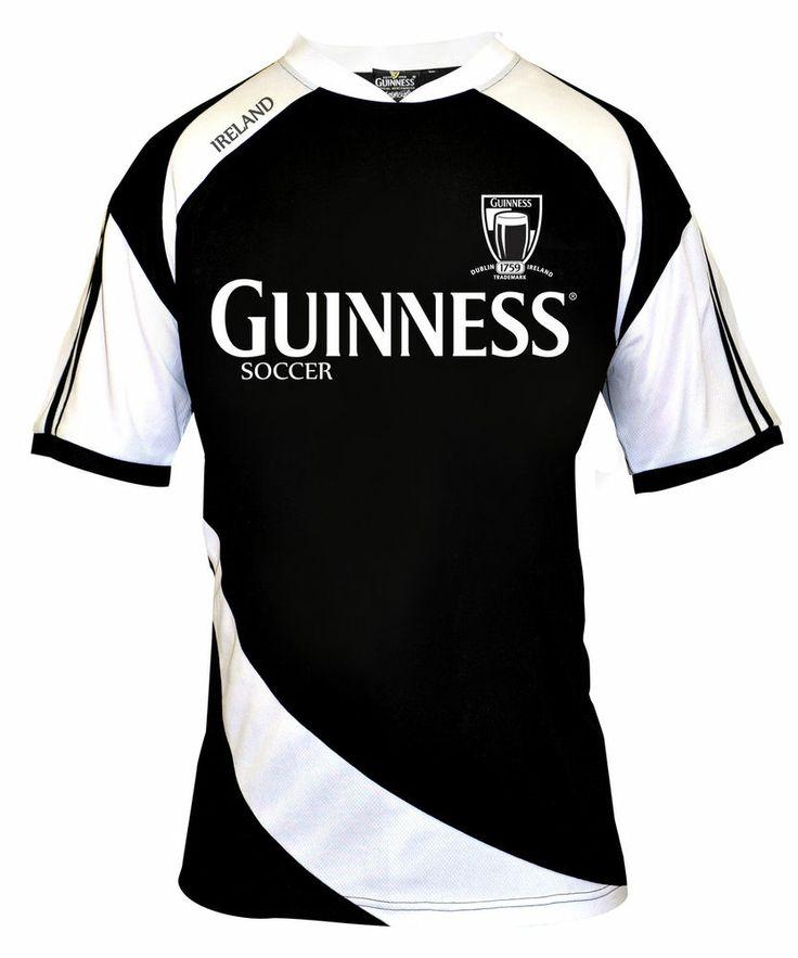 SOCCER RUGBY JERSEY Mens Irish Ireland Guinness Drifit ...