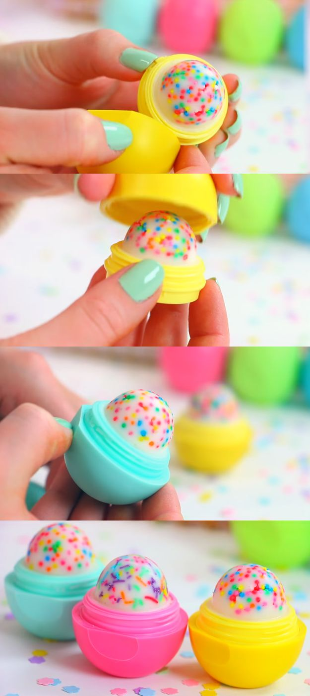 Balm christmas gift turn old eos containers into cool crafts ideas - Cupcake Eos How To And Tutorial Make Cool Homemade Lip Balm Containers For Your Eos