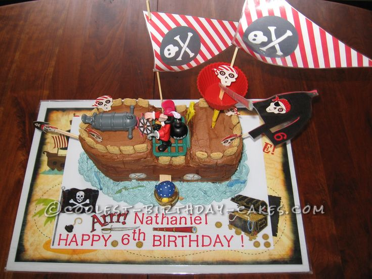 coolest pirate ship birthday cakes
