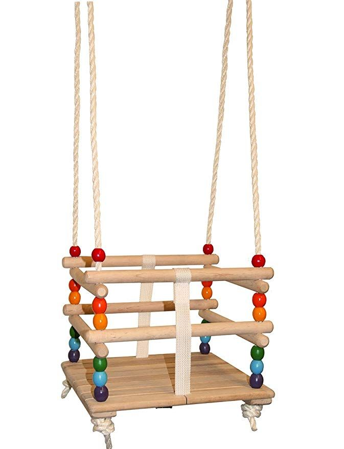 Safety Bar Swing Conversion Bar With Removable Strap Your Child Wooden Swing Adjustable Baby Hammock Children Swing Easy To Fit Wood Adjustable Infan