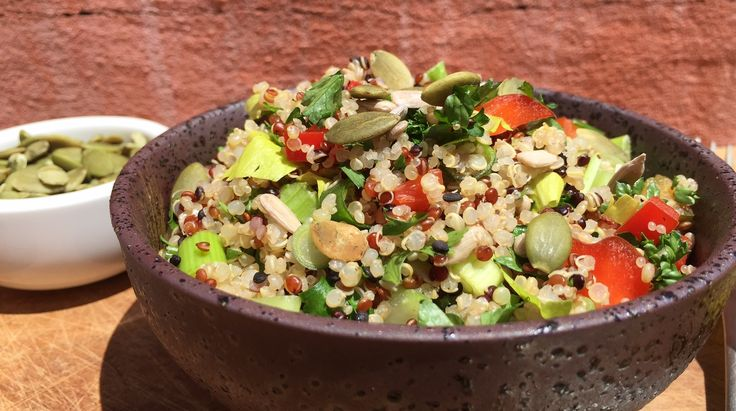Gluten Free Quinoa Tabouli (Tabbouleh) from Affordable Wholefoods Recipe blog.