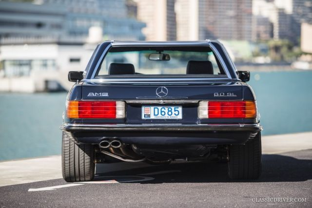 "Michael Schumacher's Mercedes 560SL Was a Hammer on Wheels.  One of three AMG built in 1986 with 330 horsepower from the 6.0-liter V8, which AMG also shared with the hallowed 300E ""Hammer."""