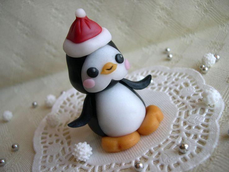 Segnaposto natalizio in pasta di zucchero