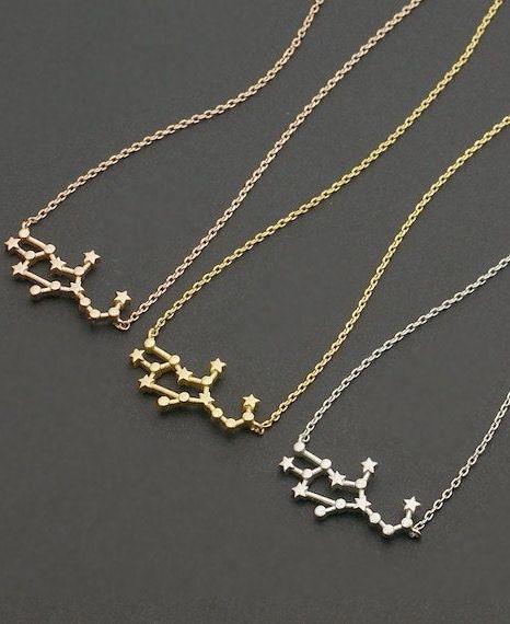 Virgo Zodiac Necklace Astrology Constellation Jewelry