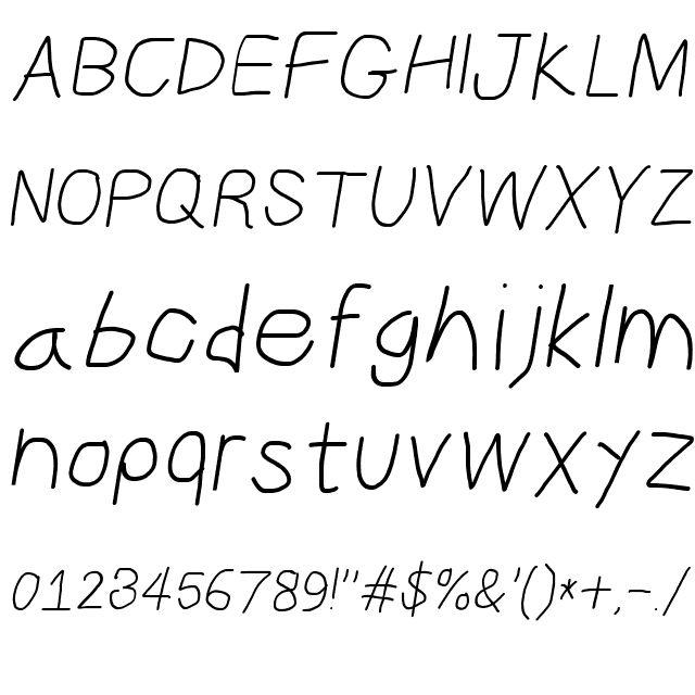 CiSf OpenHand Oblique Font