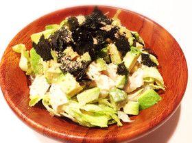 ドレッシングうま!豆腐とアボカドのサラダ