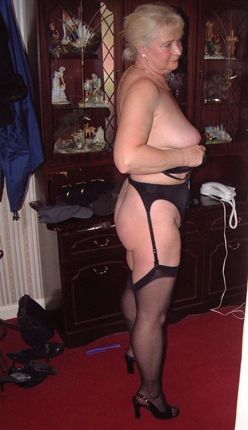 Stockings mature garters women
