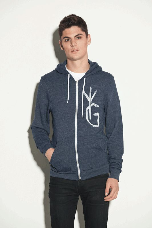 the YG Supa Crew zip-up hoodie by Young Ghosts