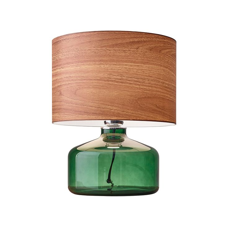 Reminiscent of found materials and Scandinavian modern décor, our River Glass Table Lamp combines a gorgeous wood-grain shade with a deep gr...