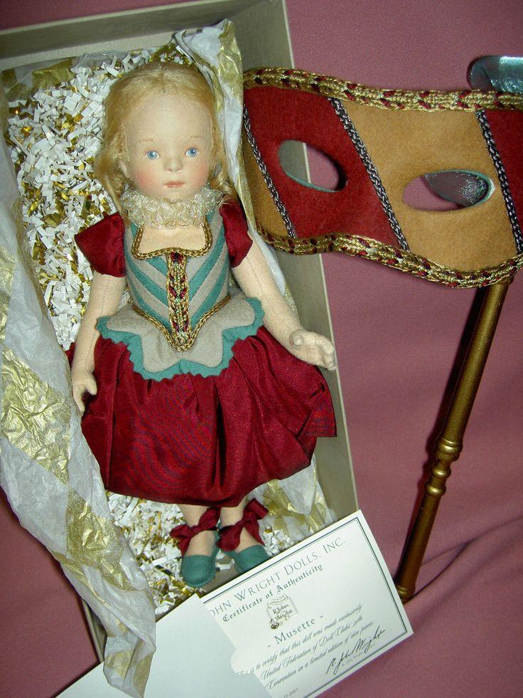 R. John WRIGHT 2003 UFDC MUSETTE Le Bal Masque doll MIB, rare MASK & Certificate