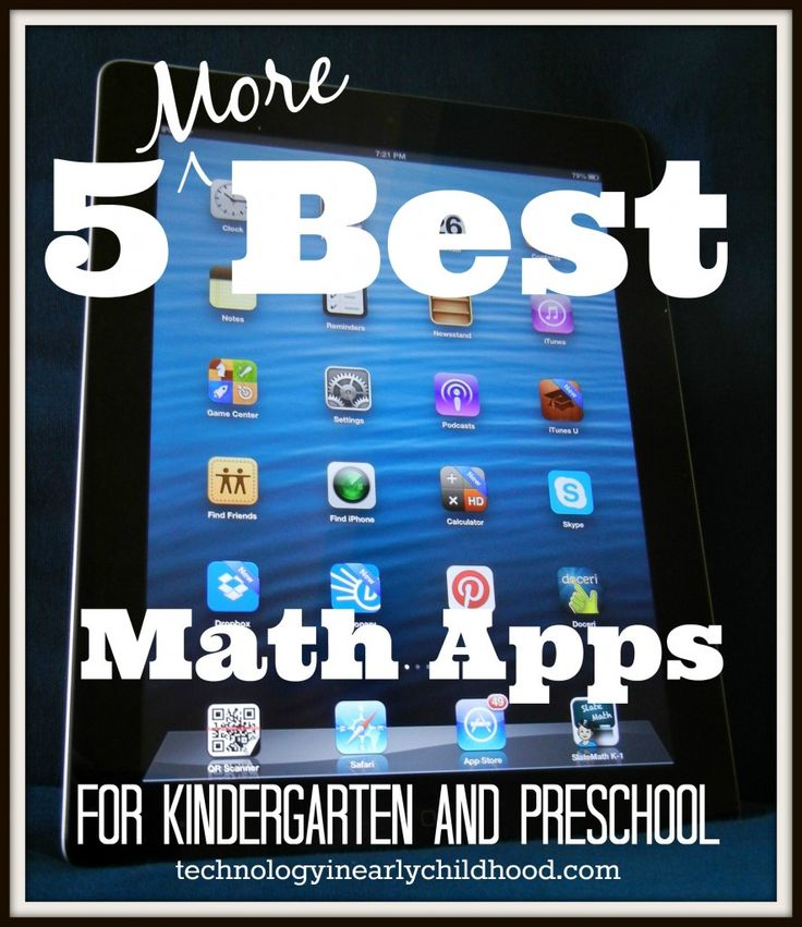 5 More Best Math Apps for Preschool and Kindergarten: Lots of articles here about good apps for young children.