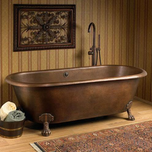 Copper Clawfoot Tub