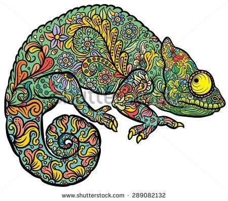 chameleon tattoo drawing wwwpixsharkcom images
