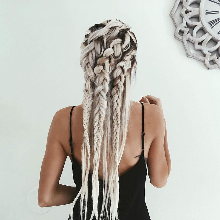 """edgy braids for an edgy mood """