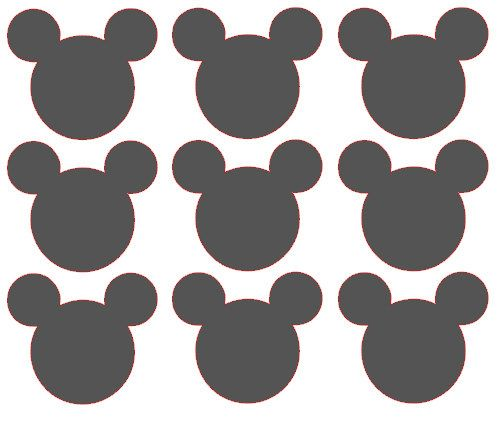Mickey Mouse Chalkboard Vinyl Decals / Labels - Set of 9. $7.00, via Etsy.