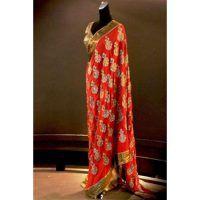 Cream Color Lehenga Sari ,net Fabric .Stone Studded