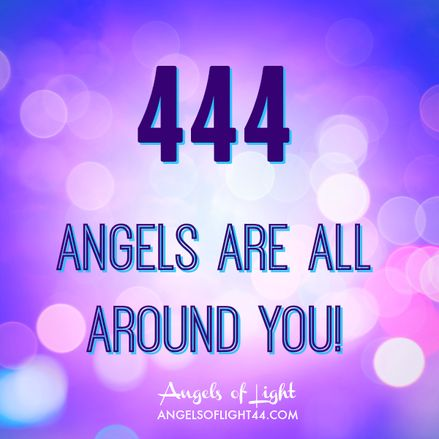 444 Angels are all around you! Magical Angel Numbers <3.  If you knew my Luke you Know the Significance of this number....he was wearing it.