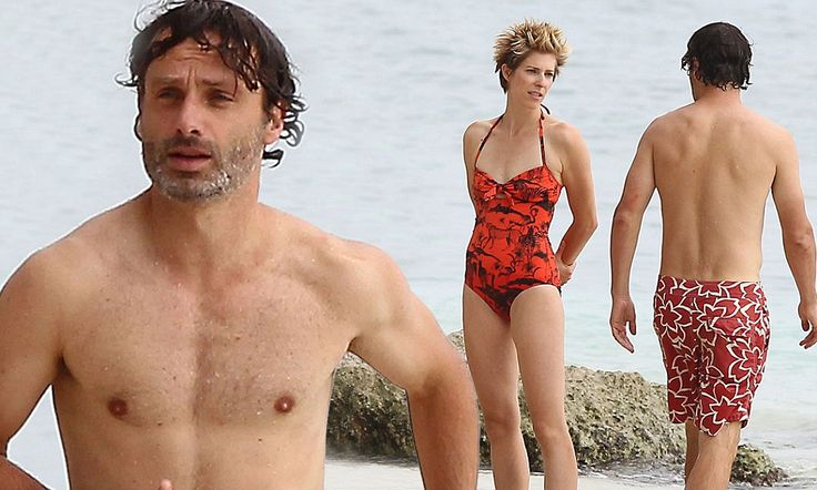 Walking Drop Dead Gorgeous Andrew Lincoln Shows Off Buff
