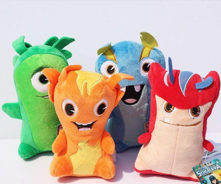 4x SlugTerra Plush Toys Game Doll Energy Elemental Slug ...