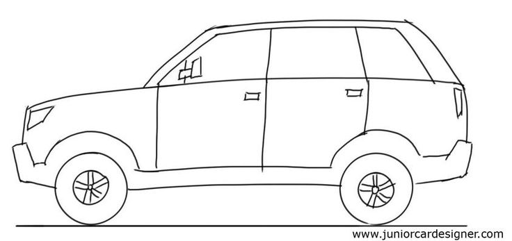 Car Drawing Tutorial: SUV Side View