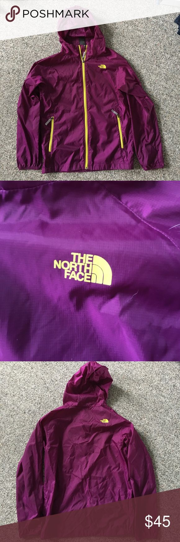 North Face Rain Jacket! PERFECT condition! Beautiful purple color. Kids XL but FITS WOMENS SMALL/MEDIUM!!!! I wear women's small/medium and fits me comfortably. The North Face Jackets & Coats