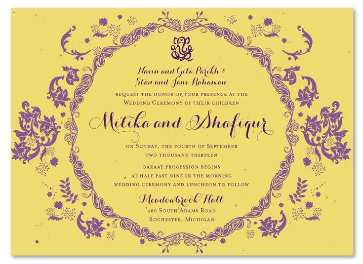 Seeded Wedding Invitations with luxury invitation template