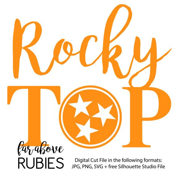 Rocky Top Tennessee Tri Star Svg Dxf Png Digital Cut