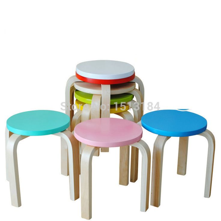 Inspirational assorted Color Plastic Stack Stool