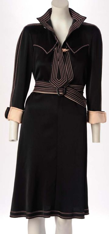 1970s Jean Muir 70's day dress in rayon crepe inspired by the 40s image 2