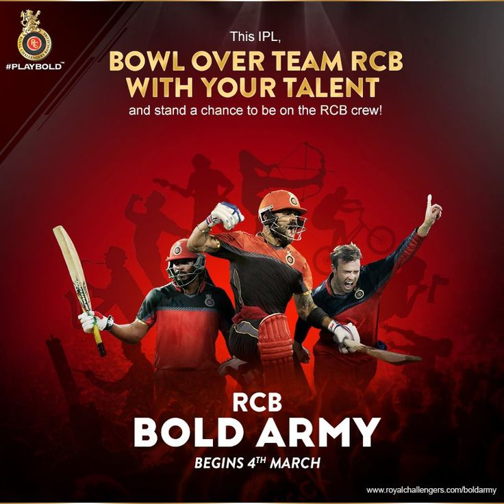RCB Challengers BOLD ARMY- fan group helps with online content
