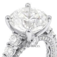 5.08ct G-VS2 Excellent Round Genuine Diamond 18K 4-Prong Engagement Ring 5.14gm   60% OFF