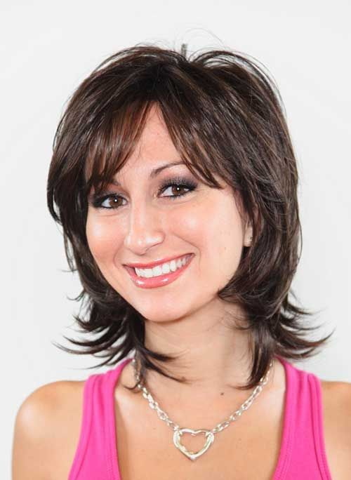 womens medium length layered haircuts to mid length haircuts the best hairstyles 4271