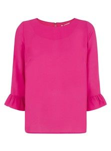 Phyllis 3/4 Sleeve Top  - Raspberry Sorbet