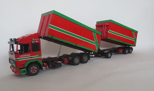 Baukästen & Konstruktion Lego Eigenbau  Renault Magnum Truck Black Edtion Super Modell