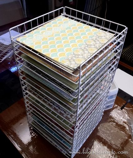 Making a Great Scrapbook Paper Rack from cube storage racks