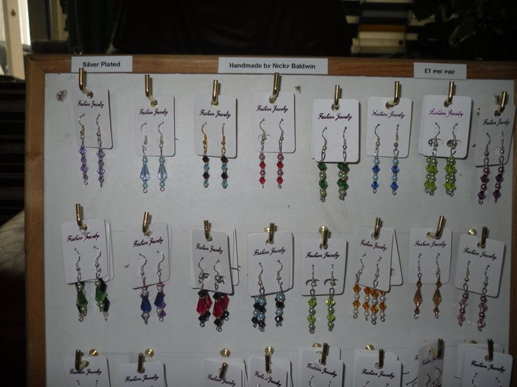 some more ear rings, I made the display stand too