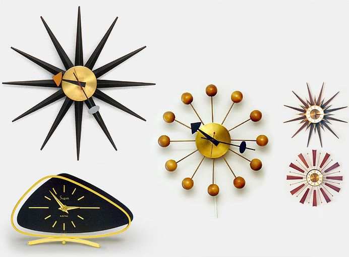 These are the real deal from Howard Miller Clock Co. (USA), design credited to George Nelson. 1950s