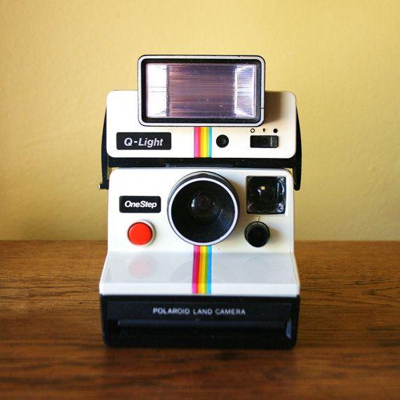 Retro Polaroid One Step Land Camera with Q Light
