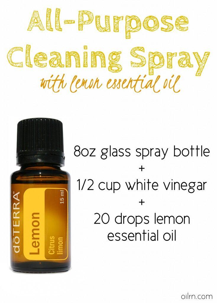 lemon cleaning spray