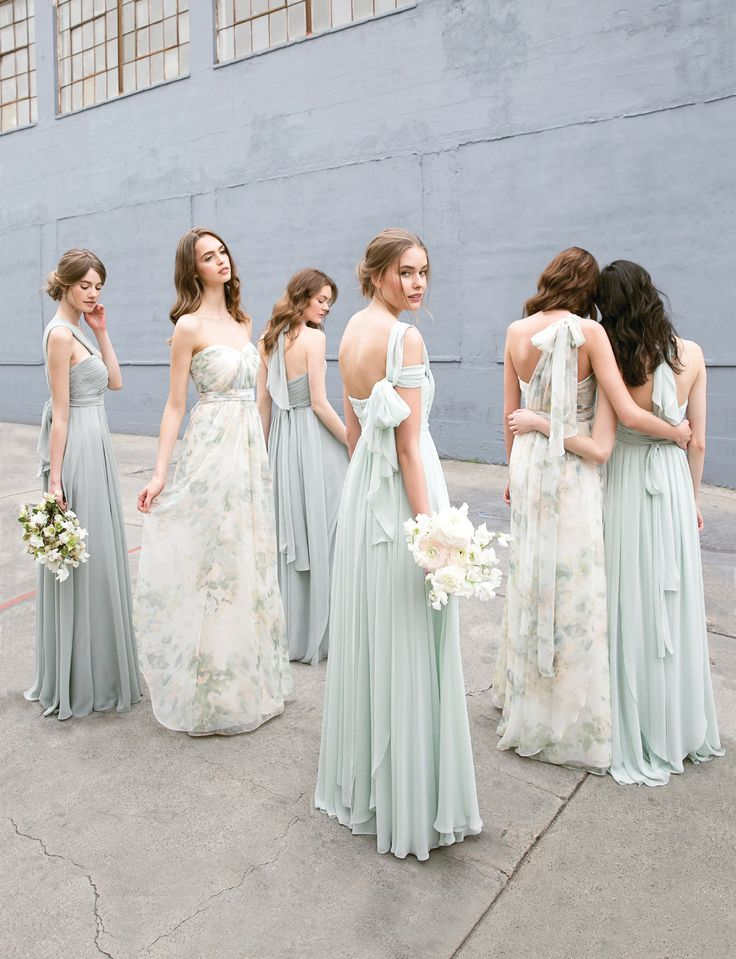 Convertible Floral Printed Mix and Match Bridesmaids Dresses by Jenny Yoo
